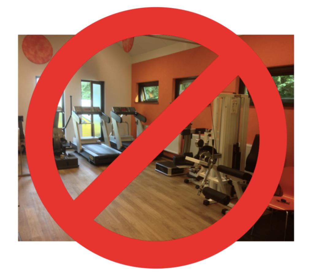 Tijdelijke stop fitness