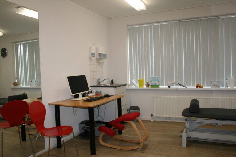 Behandelkamer Fysiotherapie de Marne vestiging Leens